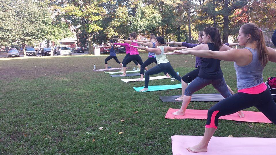 Yoga on Tabaret Lawn